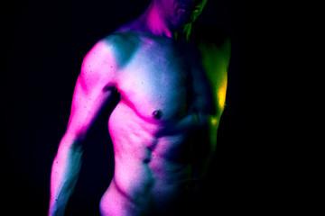Slim male nude man