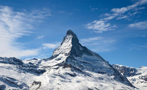 Matterhorn peak in Zermatt, Switzerland
