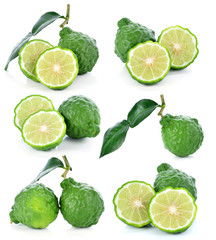 Bergamot fruit isolated on white background .