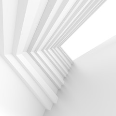 White Building Construction. Abstract Futuristic Architecture Background