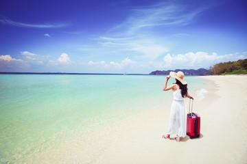 Beach travel concept