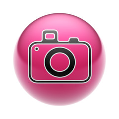 Camera Icon on A red Ball.