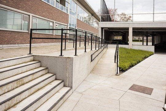 handrail for wheelchair users