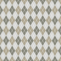 Seamless argyle pattern background. Grey and white pattern.