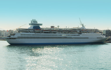great cruise ship in port