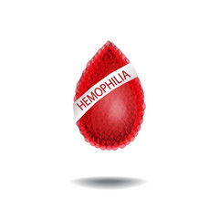 World Hemophilia Day. 17 April. A drop of blood with an inscription. Vector illustration