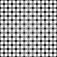 Seamless geometric interwoven black and white check pattern