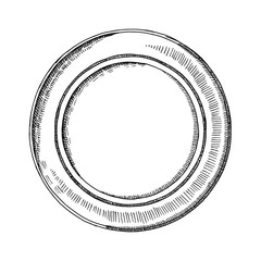 Plate drawing vector