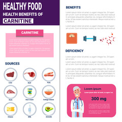 Healthy Food Infographics Products With Vitamins And Minerals, Health Nutrition Lifestyle Concept Flat Vector Illustration