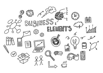 Hand drawn doodle of business element. Vector illustration