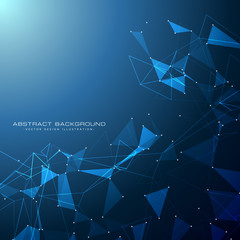 blue technology digital background with triangle shapes