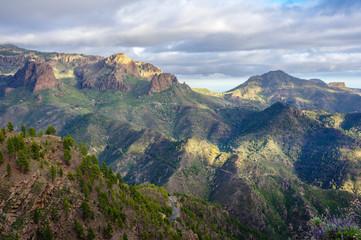 Mountain landscape in Gran Canaria near El Junkal