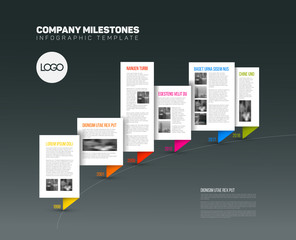 Vector Infographic timeline report template