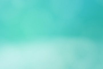 Abstract background blue turquoise blurred