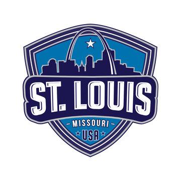 St. Louis. Vector design template.