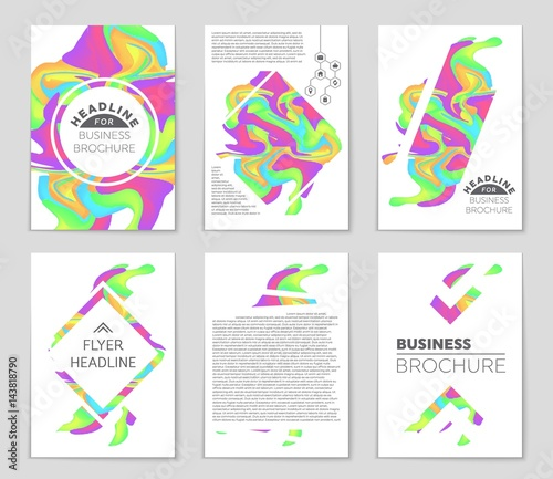 Abstract vector layout background set. For art template design ...