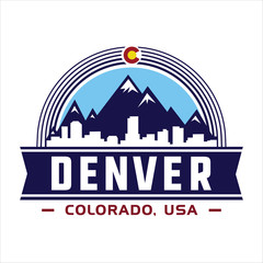 Denver Colorado - vector and illustration.