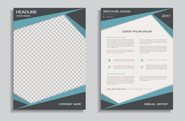 Brochure design template, front and back page