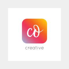 CO logo, vector. Useful as branding symbol, app icon, alphabet element, clip-art.