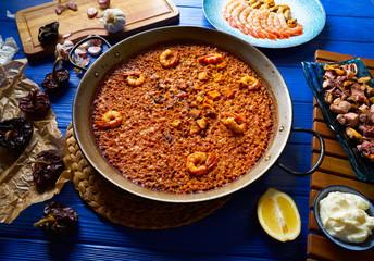 Seafood Paella senyoret rice from Spain