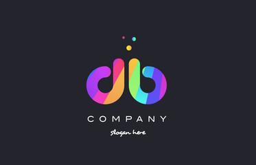 Obraz db d b  colored rainbow creative colors alphabet letter logo icon - fototapety do salonu