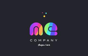 me m e  colored rainbow creative colors alphabet letter logo icon