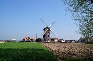 Fotorollo Mühlen Turmwindmühle im Isselburger Ortsteil Vehlingen
