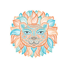 Vector illustration. Lion.