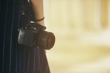 Girl with a dslr camera