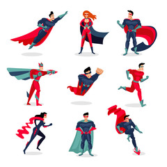 Superheroes Characters Set