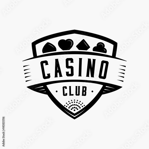 Vintage casino logo