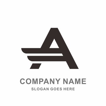 Monogram Letter A Geometric Triangle Wings Fashion Apparel Startup Business Company Stock Vector Logo Design Template