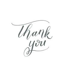 Thank You - hand calligraphy