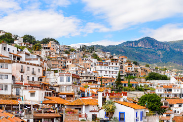 Panorama of Taxco, Mexico. The town is known because of its Silver products