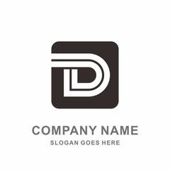 Monogram Letter D Geometric Square Interior Architecture Mobile Phone Apps Business Company Stock Vector Logo Design Template
