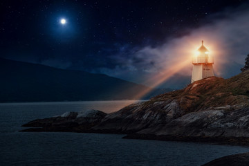 Lighthouse in Norway Wall mural