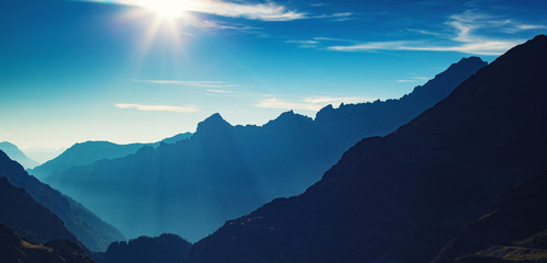 Fototapete - Alps mountains