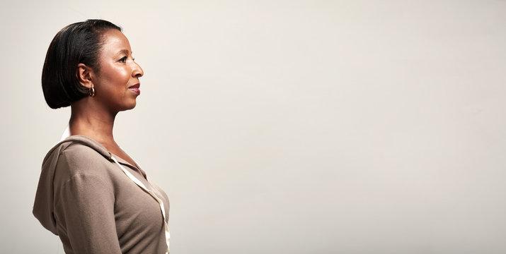 African american woman profile