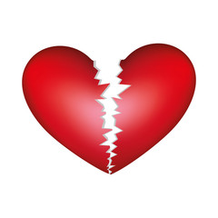 realistic picture colorful broken heart vector illustration