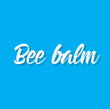 bee balm, text design. Vector calligraphy. Typography poster.