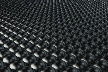 Pattern of black spheres
