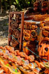 Masks, Authentic handcraft souvenirs of maya civilisation