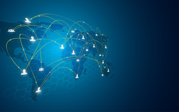 connection networking technology telecoms communication worldwide concept background
