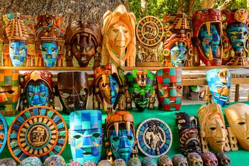 Authentic handcraft souvenirs of maya civilisation