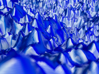 Abstract technology colorful blue background composed of poly mesh. 3d illustration.