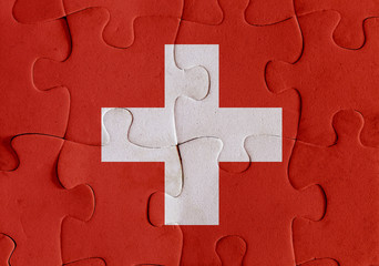 Switzerland flag puzzle