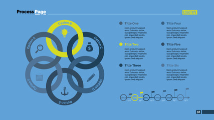Six Linked Circles Slide Template
