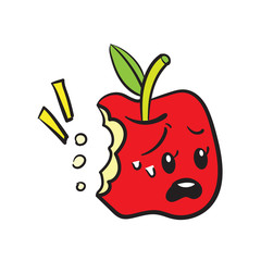 funny red apple