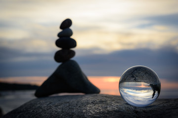 Stones and crystal ball
