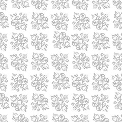 Damask classic silver pattern. Seamless abstract background with repeating diagonal elements